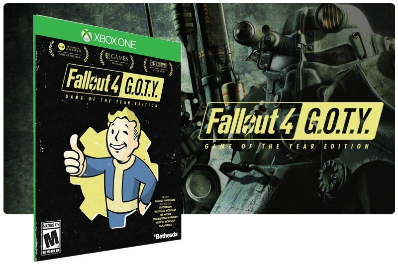 Banner do game Fallout 4: Game of the Year Edition em mídia digital para Xbox One