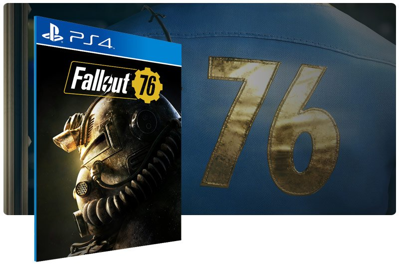 Banner do game Fallout 76 para PS4