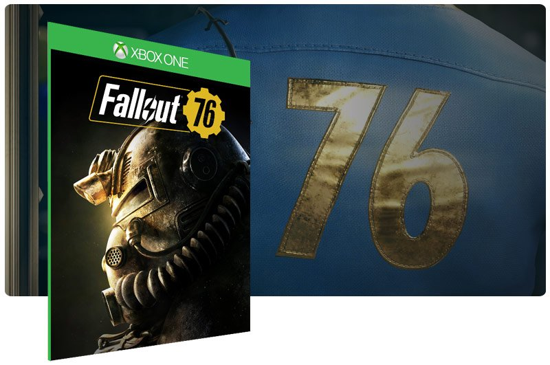 Banner do game Fallout 76 em mídia digital para Xbox One