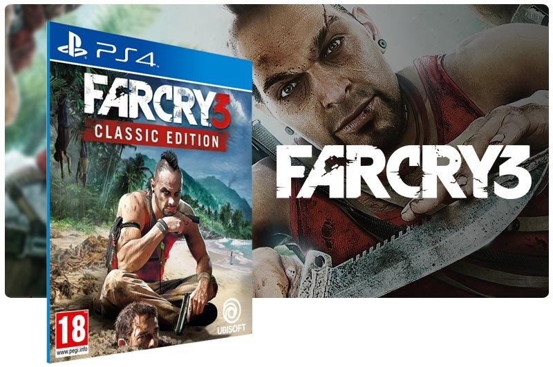 Banner do game Far Cry 3 Classic Edition para PS4