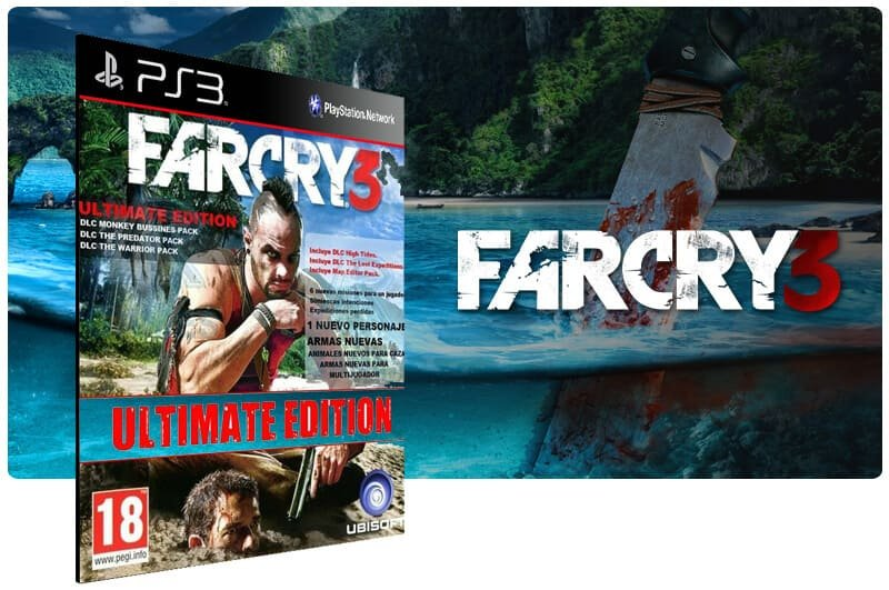 Banner do game Far Cry 3 Ultimate Edition para PS3