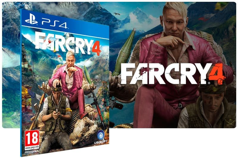Banner do game Far Cry 4 para PS4