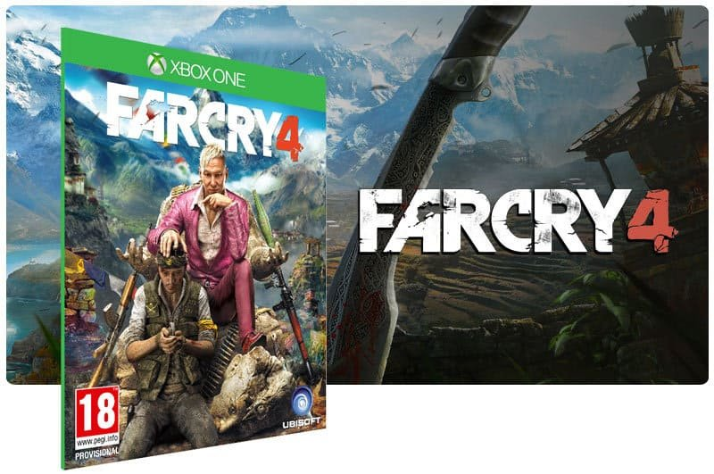 Banner do game Far Cry 4 em mídia digital para Xbox One