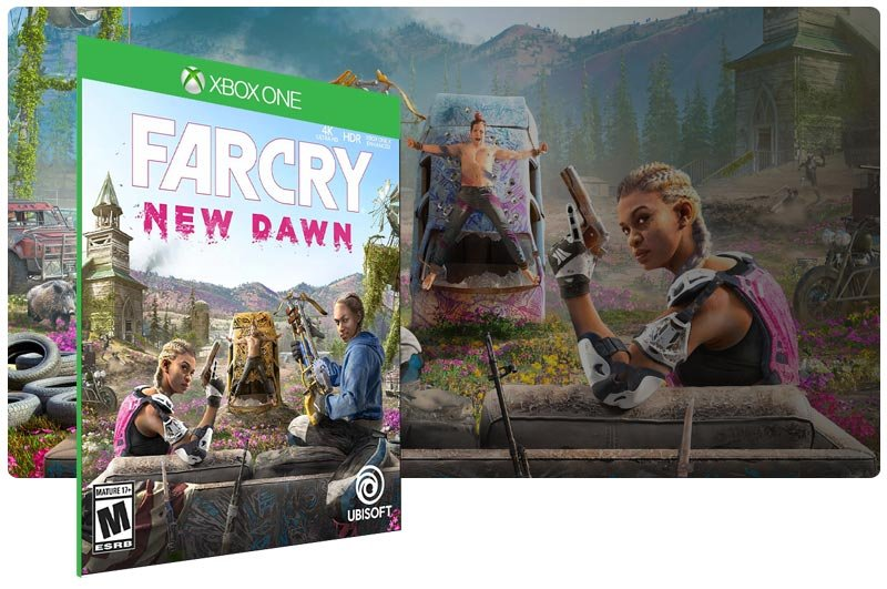Banner do game Far Cry New Dawn em mídia digital para Xbox One