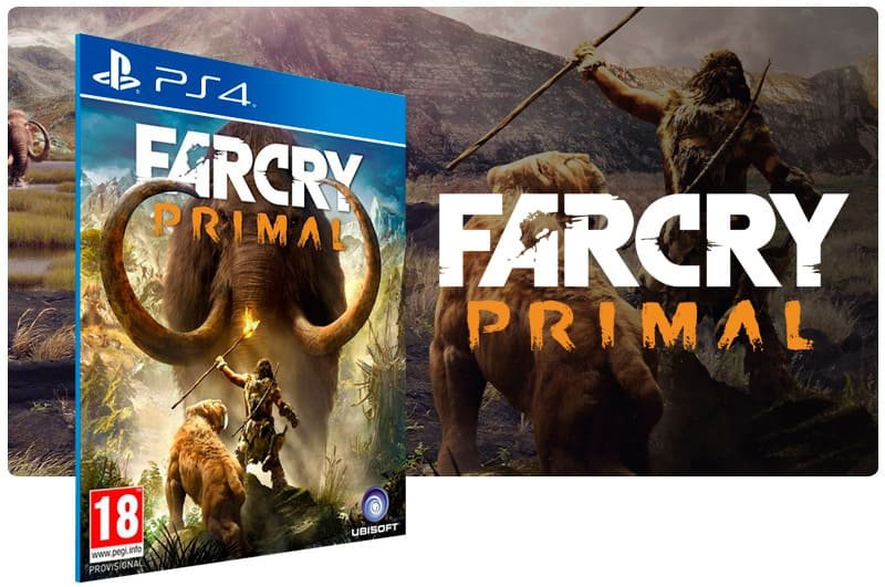 Banner do game Far Cry Primal para PS4X