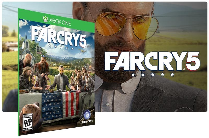 Banner do game Far Cry 5 em mídia digital para Xbox One