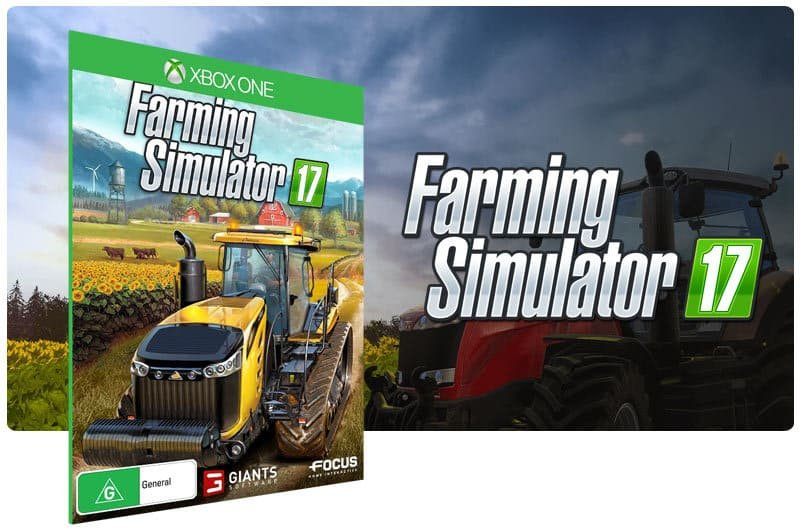 Banner do game Farming Simulator 17 em mídia digital para Xbox One