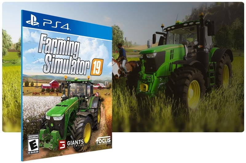 Banner do game Farming Simulator 19 para PS4