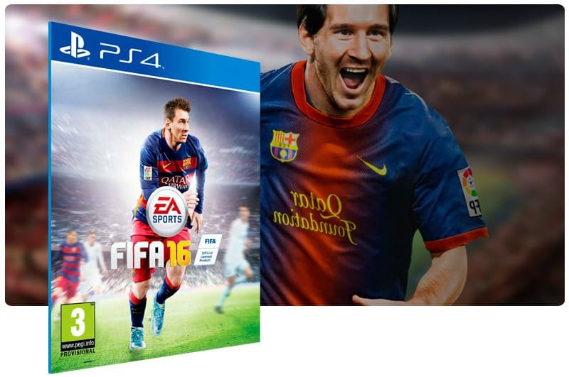 Banner do game Fifa 16 para PS4