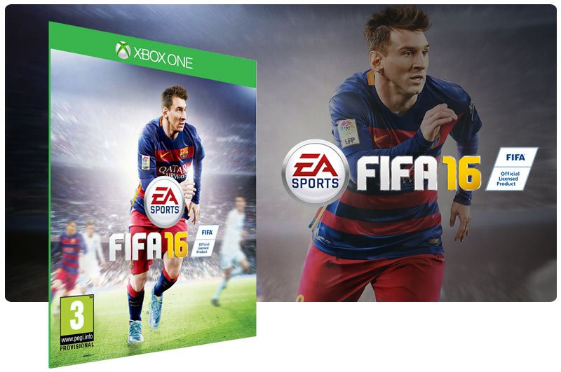 Banner do game FIFA 16 em mídia digital para Xbox One