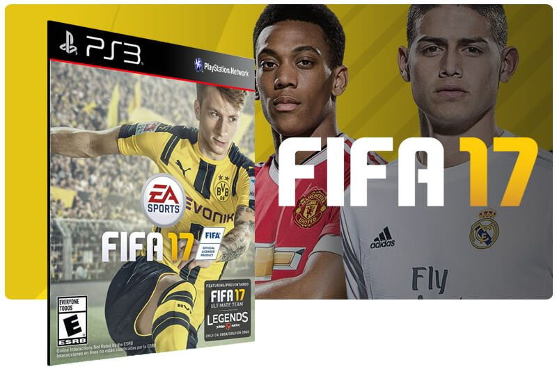 Banner do game Fifa 17 para PS3