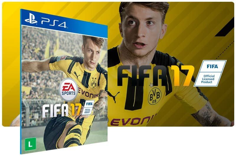 Banner do game Fifa 17 para PS4