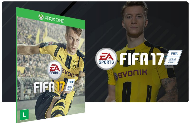 Banner do game FIFA 17 em mídia digital para Xbox One
