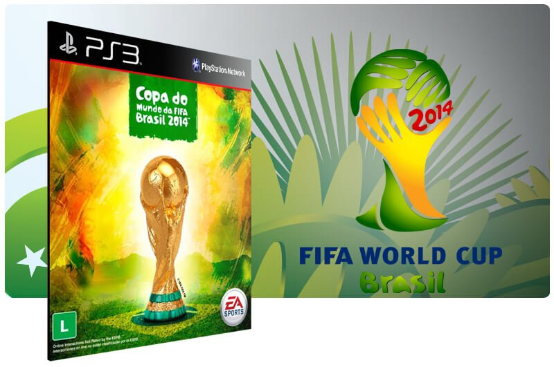 Banner do game Fifa Copa Do Mundo 2014 para PS3