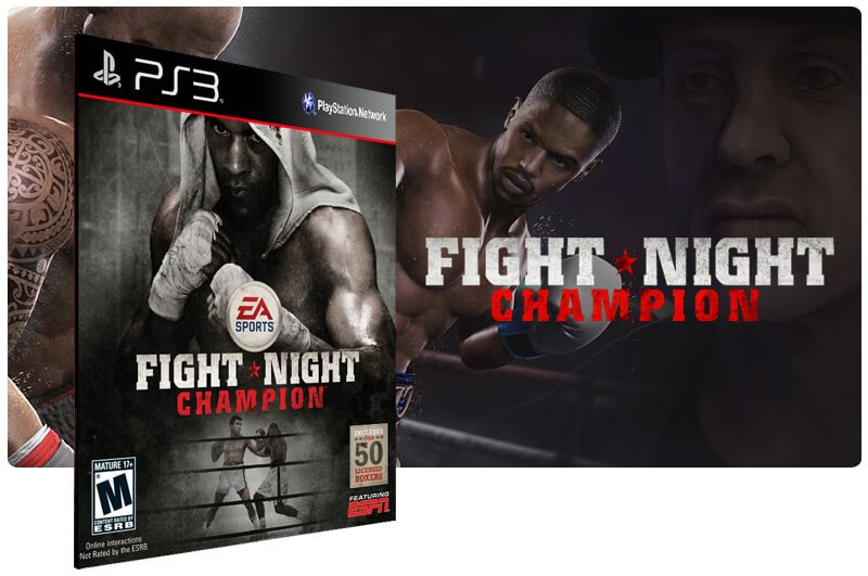 Banner do game Fight Night Champion para PS3