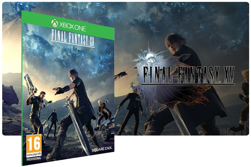 Banner do game Final Fantasy XV em mídia digital para Xbox One