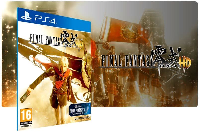 Banner do game Final Fantasy Type 0 para PS4