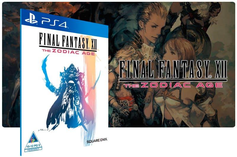 Banner do game Final Fantasy XII The Zodiac Age para PS4