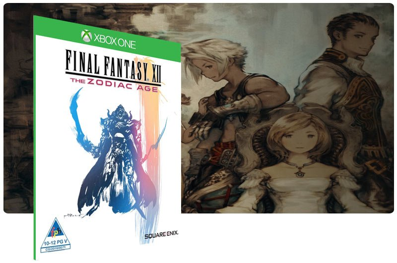 Banner do game Final Fantasy XII The Zodiac Age em mídia digital para Xbox One