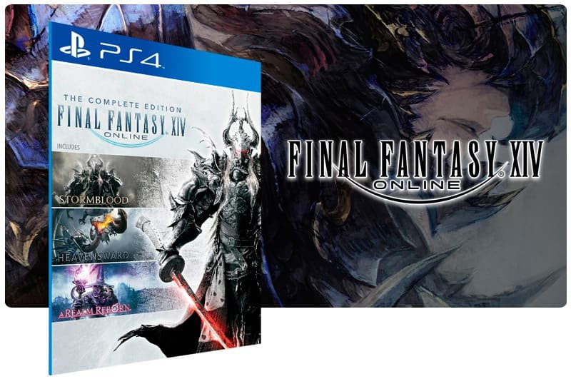 Banner do game Final Fantasy XIV Online Complete Edition para PS4