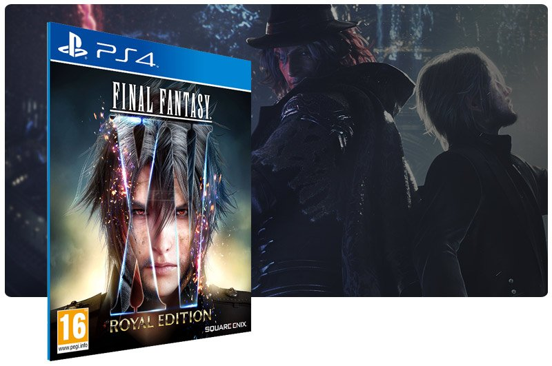 Banner do game Final Fantasy XV Royal Edition em mídia digital para PS4