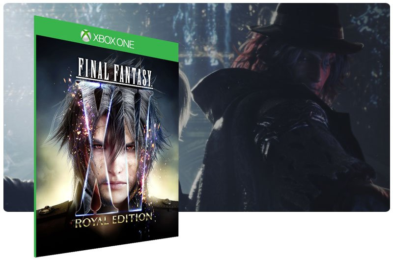 Banner do game Final Fantasy XV Royal Edition em mídia digital para Xbox One