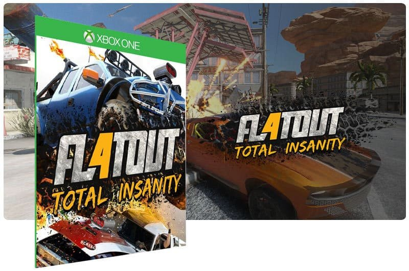 Banner do game Flatout 4 Total Insanity em mídia digital para Xbox One