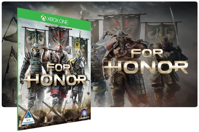 Banner do game For Honor: Standard Edition em mídia digital para Xbox One