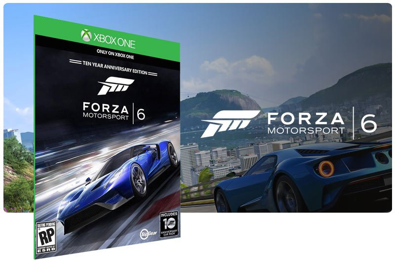 Banner do game Forza Motorsport 6 em mídia digital para Xbox One