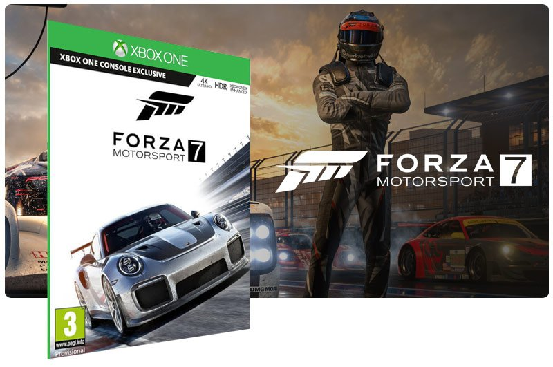 Banner do game Forza Motorsport 7 em mídia digital para Xbox One