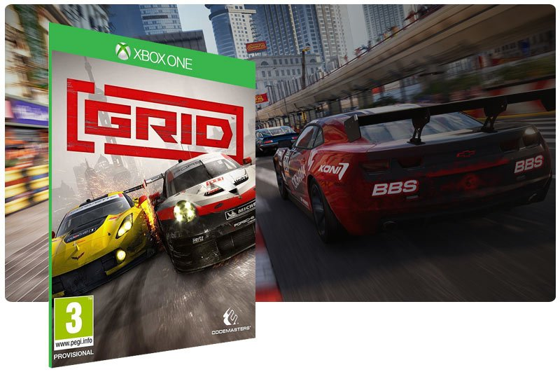 Banner do game GRID Launch Edition em mídia digital para Xbox One