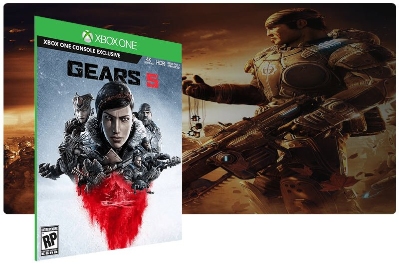 Banner do game Gears 5 em mídia digital para Xbox One