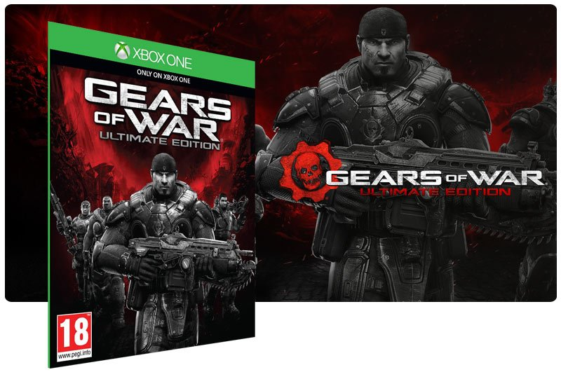 Banner do game Gears of War: Ultimate Edition Day One em mídia digital para Xbox One