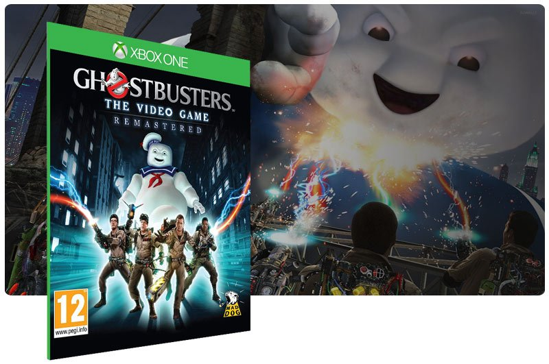 Banner do game Ghostbusters: The Video Game Remastered em mídia digital para Xbox One