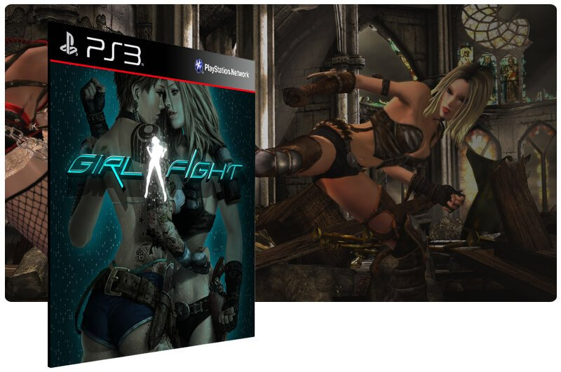 Banner do game Girl Fight para PS3