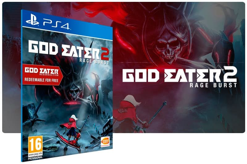 Banner do game God Eater 2: Rage Burst para PS4