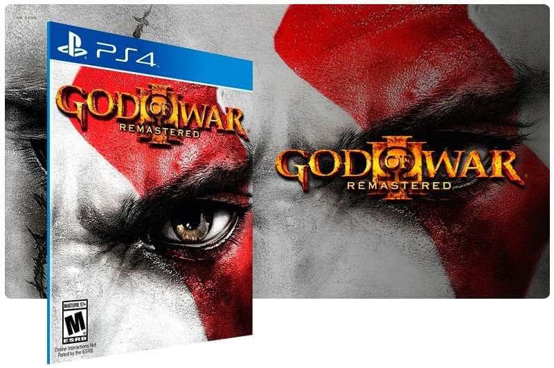 Banner do game God Of War 3 Remastered para PS4