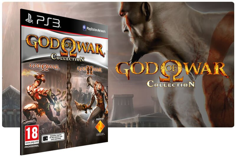 Banner do game God of War Collection para PS3
