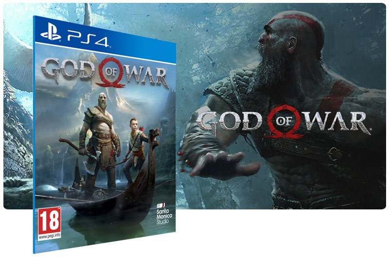 Banner do game God of War em mídia digital para PS4