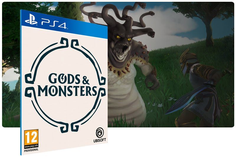Banner do game Gods & Monsters para PS4