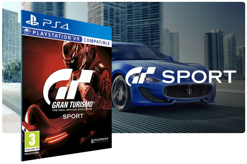 Banner do game Gran Turismo Sport para PS4