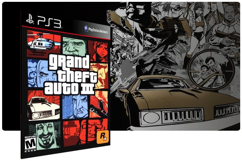 Banner do game Grand Theft Auto 3 para PS3