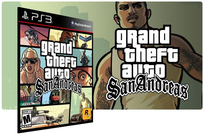 Banner do game Grand Theft Auto Gta San Andreas para PS3