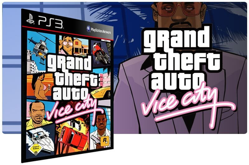 Banner do game Grand Theft Auto Gta Vice City para PS3