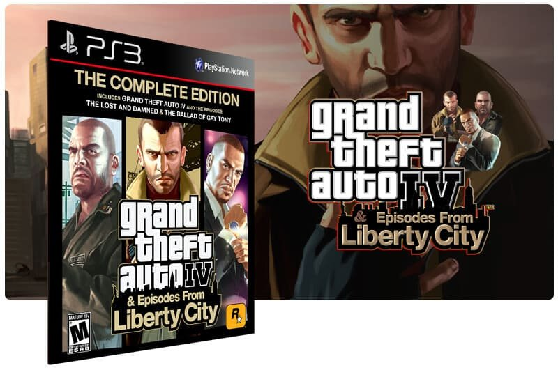 Banner do game Grand Theft Auto IV ​Complete Edition Gta 4 para PS3