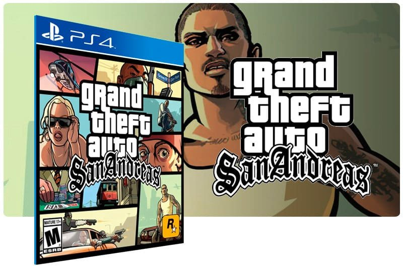 Banner do game Grand Theft Auto: San Andreas para PS4