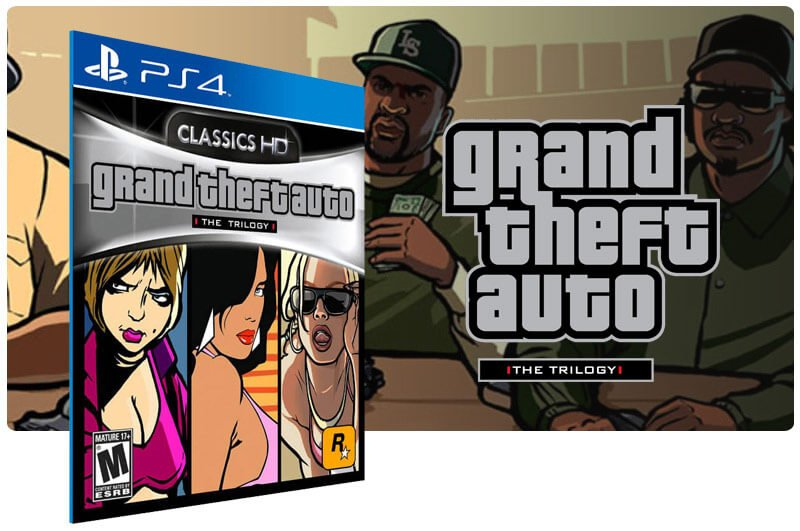 Banner do game Grand Theft Auto: The Trilogy para PS4