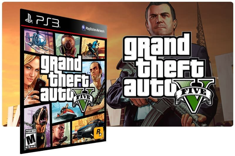 Banner do game Grand Theft Auto V Gta 5 para PS3