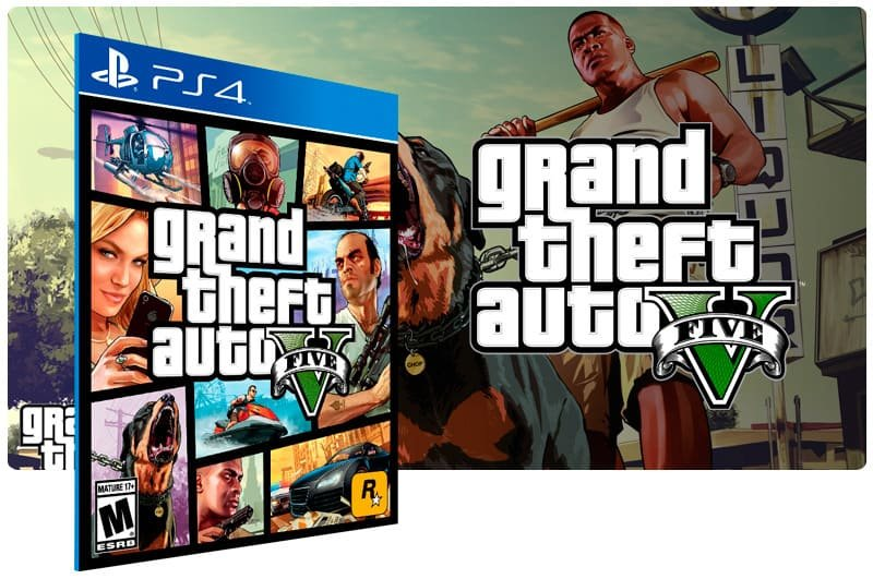 Banner do game Grand Theft Auto V para PS4