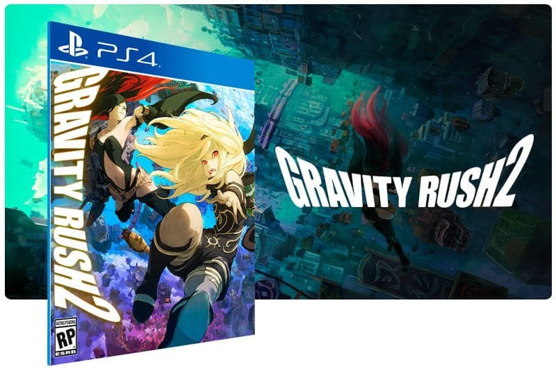 Banner do game Gravity Rush 2 para PS4